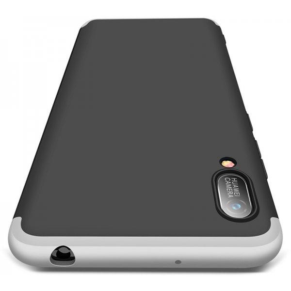 Чехол-накладка GKK 3 in 1 Hard PC Case Huawei Y6 2019 Silver/Black