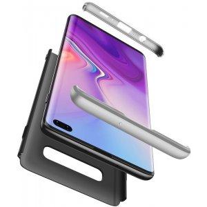 Чехол-накладка GKK 3 in 1 Hard PC Case Samsung Galaxy S10+ Silver/Black
