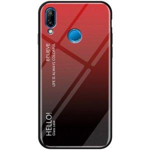 Чехол-накладка TOTO Tempered Glass Phone Case Gradient для Xiaomi Redmi 7 Red