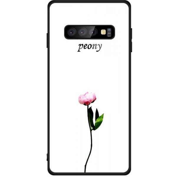 Чехол-накладка TOTO Tempered Glass Phone Case Fashionable для Samsung Galaxy S10 Peon on White