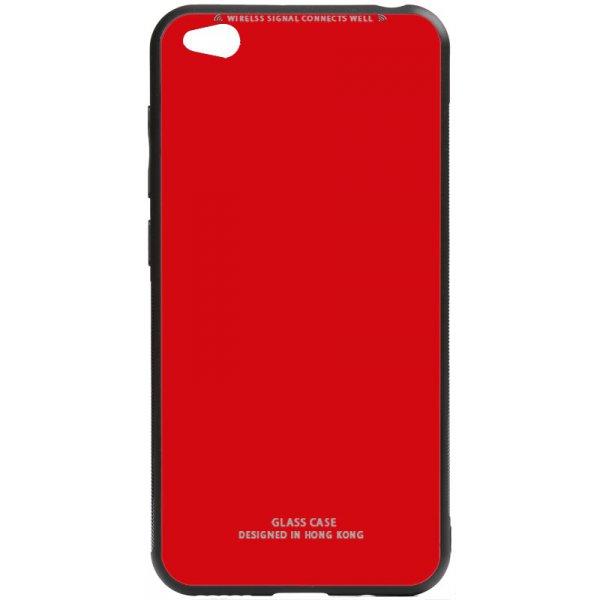 Чехол-накладка TOTO Pure Glass Case для Xiaomi Redmi Go Red