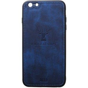 Чехол-накладка TOTO Deer Shell With Leather Effect Case для Apple iPhone 6/6s Dark Blue