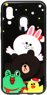 a40all about cartoon case chehol friends galaxy glass line nakladka print samsung toto