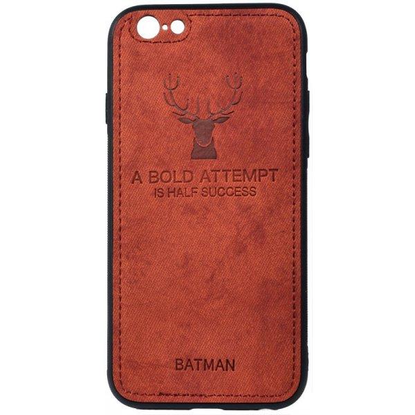 Чехол-накладка TOTO Deer Shell With Leather Effect Case для Apple iPhone 6/6s Brown