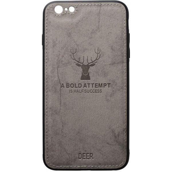 Чехол-накладка TOTO Deer Shell With Leather Effect Case для Apple iPhone 6/6s Gray