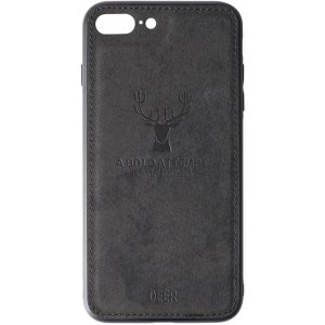 Чехол-накладка TOTO Deer Shell With Leather Effect Case для Apple iPhone 7 plus/8 plus Black