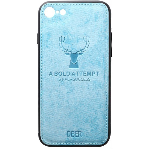 Чехол-накладка TOTO Deer Shell With Leather Effect Case для Apple iPhone 7/8 Blue