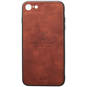 Чехол-накладка TOTO Deer Shell With Leather Effect Case для Apple iPhone 7/8 Brown