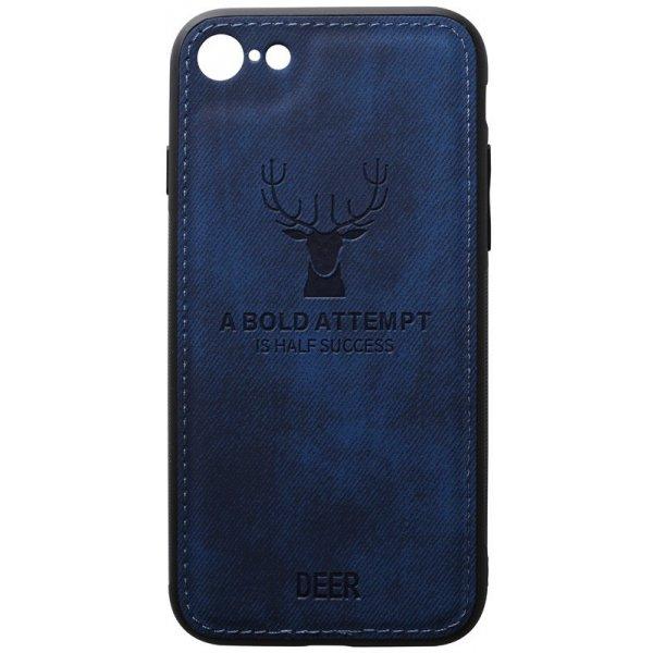 Чохол-накладка TOTO Deer Shell With Leather Effect Case для Apple iPhone 7/8 Dark Blue