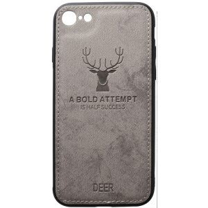 Чохол-накладка TOTO Deer Shell With Leather Effect Case для Apple iPhone 7/8 Grey