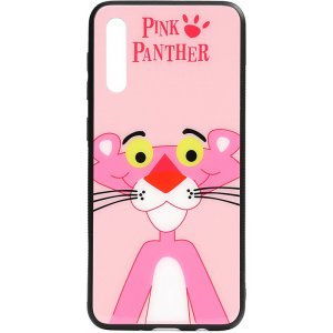 Чехол-накладка TOTO Cartoon Print Glass Case для Samsung Galaxy A50 Pink Panther