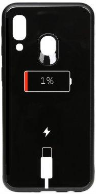 a40 battery cartoon case charge chehol galaxy glass nakladka print samsung toto