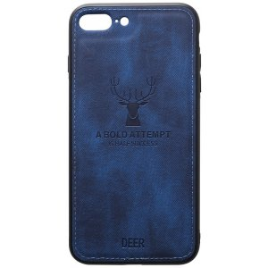Чехол-накладка TOTO Deer Shell With Leather Effect Case для Apple iPhone 7 plus/8 plus Dark Blue