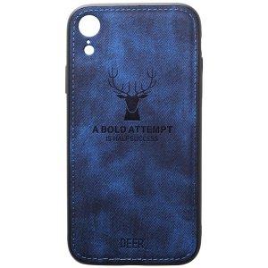 Чехол-накладка TOTO Deer Shell With Leather Effect Case для Apple iPhone Xr Dark Blue