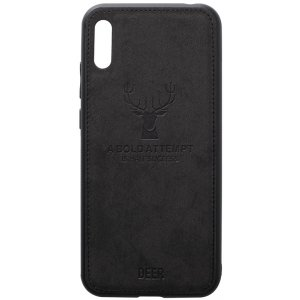Чехол-накладка TOTO Deer Shell With Leather Effect Case для Huawei Y6 2019 Black