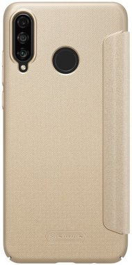 case chehol gold huawei knizhka leather lite nillkin p30 sparkle