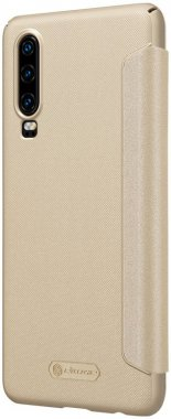 case chehol gold huawei knizhka leather nillkin p30 sparkle