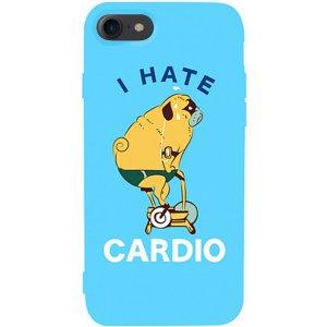 Чехол-накладка TOTO Matt Tpu 2mm Print Case Apple iPhone 7/8 #5 Hate Cardio Sky Blue