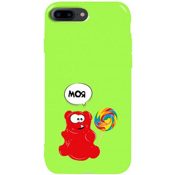 Чехол-накладка TOTO Pure Tpu 2mm Print Case Apple iPhone 7 Plus/8 Plus #14 Valera Candy Green