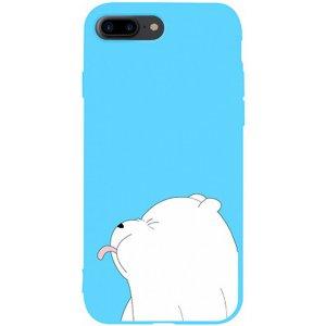 Чехол-накладка TOTO Matt Tpu 2 мм Чохол для друку Apple iPhone 7 Plus / 8 Plus # 57 Bear Tongue Sky Blue