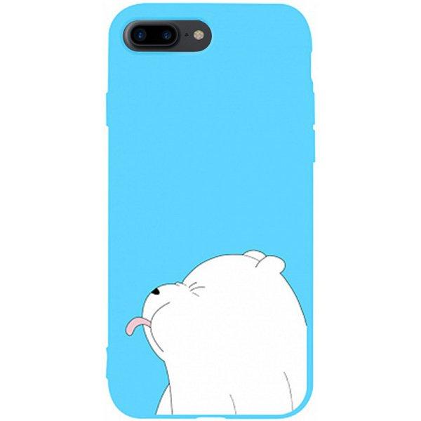 Чехол-накладка TOTO Matt Tpu 2mm Print Case Apple iPhone 7 Plus/8 Plus #57 Bear Tongue Sky Blue