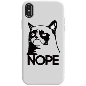 Чехол-накладка TOTO Pure Tpu 2mm Print Case Apple iPhone X/XS #4 Cat Nope White