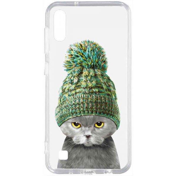 Чехол-накладка TOTO Acrylic+Tpu Print Case Samsung Galaxy A10 #7 Cat In Hat Transparent