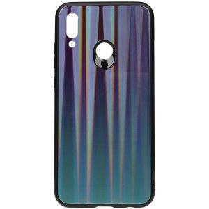 Чехол-накладка TOTO Aurora Print Glass Case для Huawei P Smart 2019 Blue