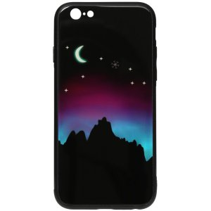 Чехол-накладка TOTO Night Light Print Glass Case для Apple iPhone 6/6S Young Moon