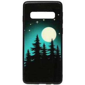 Чохол-накладка TOTO Night Light Print Glass Case для Samsung Galaxy S10 Full Moon