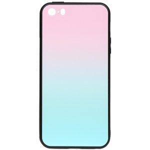 Чехол-накладка TOTO Glass Case Gradient для Apple iPhone 5/5S/SE Turquoise