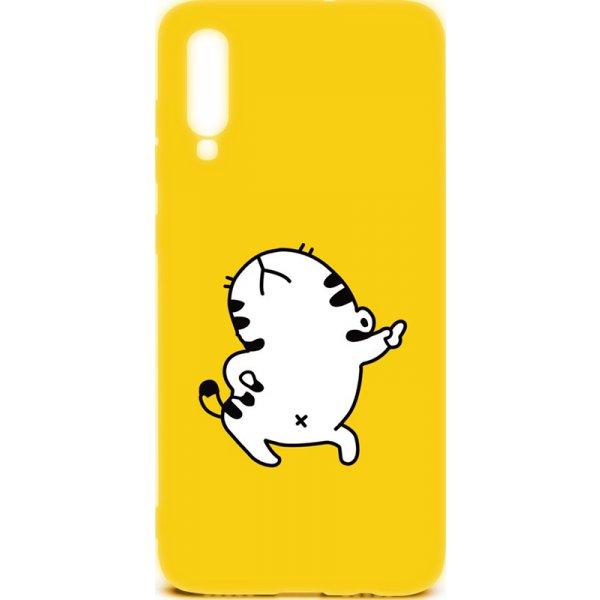 Чехол-накладка TOTO Cartoon Soft Silicone TPU Case Samsung Galaxy A70 Cat Yellow