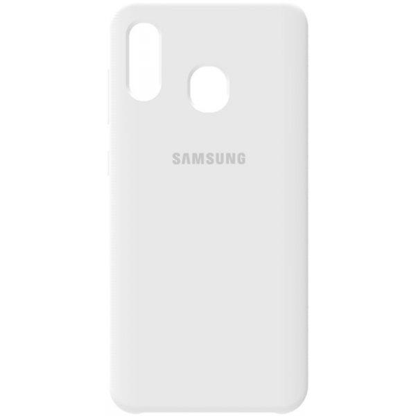 Чехол-накладка Samsung Silicone Case Galaxy A20/A30 White