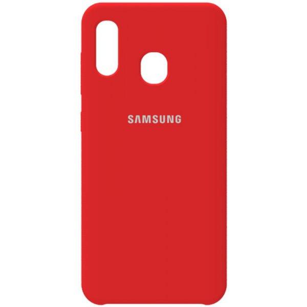 Чохол-накладка Samsung Silicone Case Galaxy A20 / A30 Rose Red