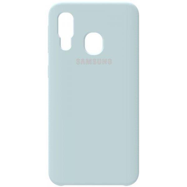 Чехол-накладка Samsung Silicone Case Galaxy A40 Sky Blue