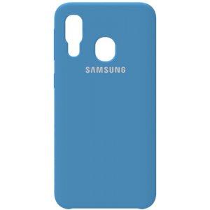 Чехол-накладка Samsung Silicone Case Galaxy A40 Navy Blue