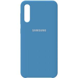 Чехол-накладка Samsung Silicone Case Galaxy A50 Navy Blue