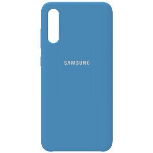 Чехол-накладка Samsung Silicone Case Galaxy A70 Navy Blue