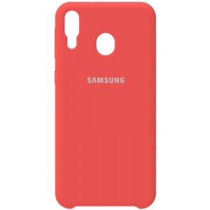 Чехол-накладка Samsung Silicone Case Galaxy M20 Peach Pink