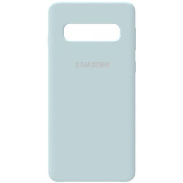 Чехол-накладка Samsung Silicone Case Galaxy S10 Sky Blue