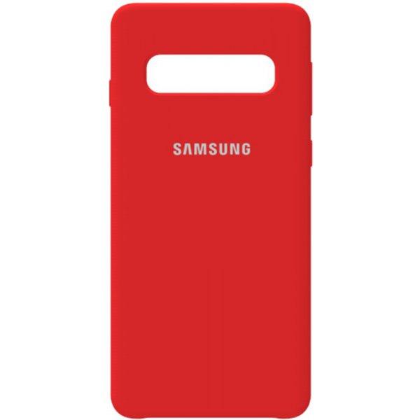 Чехол-накладка Samsung Silicone Case Galaxy S10 Rose Red