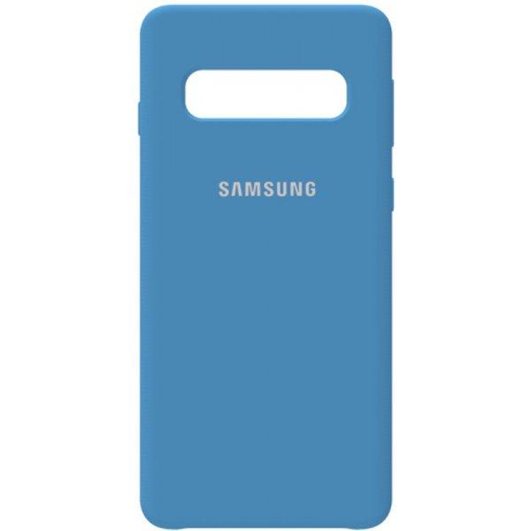 Чехол-накладка Samsung Silicone Case Galaxy S10 Navy Blue
