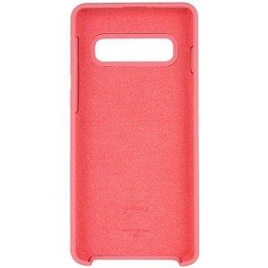 Чехол-накладка Samsung Silicone Case Galaxy S10+ Peach Pink