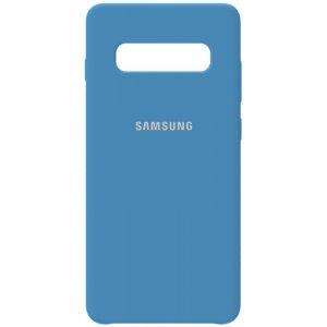 Чехол-накладка Samsung Silicone Case Galaxy S10+ Navy Blue