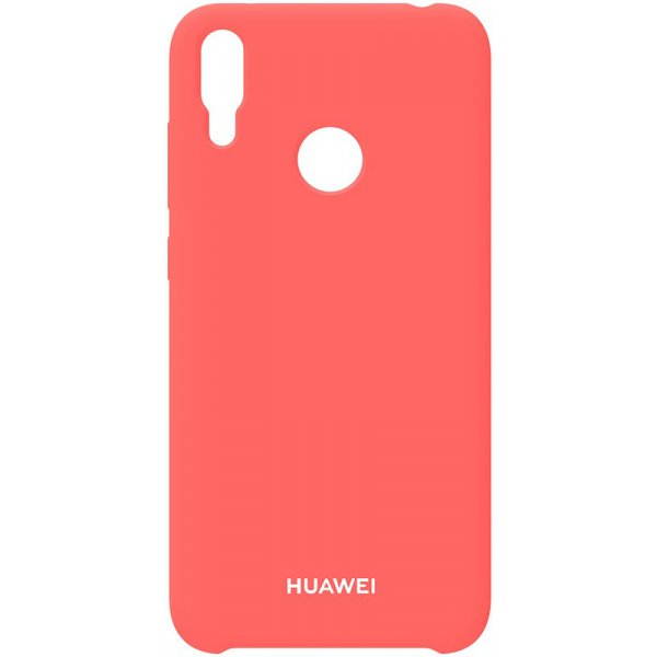 Чехол-накладка Huawei Silicone Case Y7 2019 Peach Pink