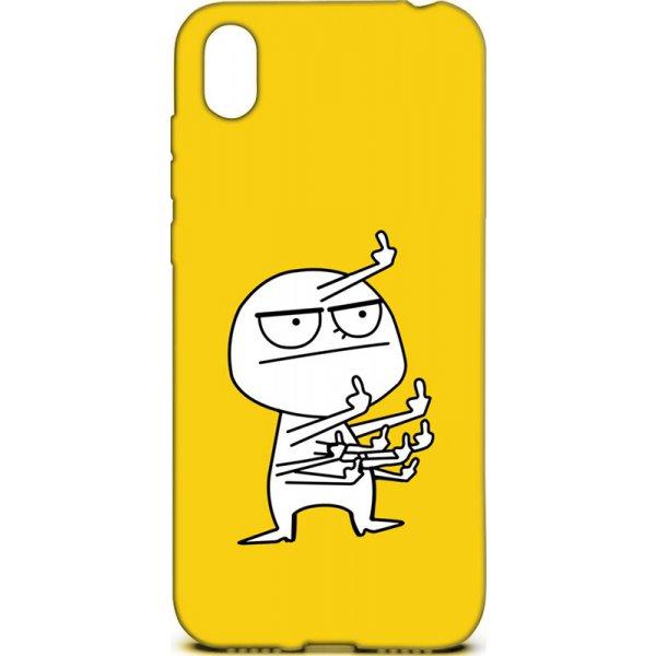 Чехол-накладка TOTO Cartoon Soft Silicone TPU Case Huawei Y5 2019 FK9 Yellow