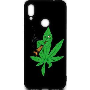 Чехол-накладка TOTO Cartoon Soft Silicone TPU Case Xiaomi Redmi Note 7 Cannabis Black