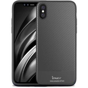 Чехол-накладка Ipaky Carbon Fiber Series/TPU Case With Apple iPhone XS Gray