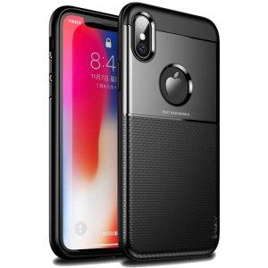 Чехол-накладка Ipaky Shield Series/Elegant Grid Design TPU Hybrid Case Apple iPhone XS Max Black