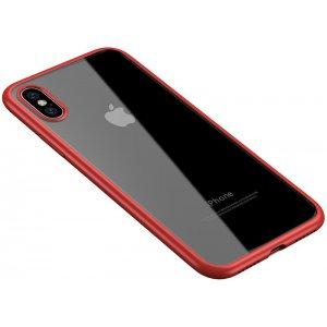 Чехол-накладка Ipaky Bright Series/TPU frame With Clear PC Case для Apple iPhone XS Max Red